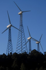 4 Turbines at Sky River Ranch, PCT, CA (Damon Tighe) Tags: california ranch ca sky mountains windmill america river energy power pacific wind farm north crest trail backpacking electricity pct generation turbine tehachapi alternative windfarm turbines