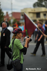 ANZAC Day 2013 Photographer c II (Hutech_f2.2 (I'm staying too!)) Tags: street camera march photographer 85mm australia thursday anzacday wodonga nikond700 25thapril2013