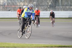 AB4T7412 (TowcesterNews) Tags: charity red bike mercedes ride andrea south northamptonshire f1 bull silverstone conservative mp northants towcester aboutmyarea marussia leadsom norpip