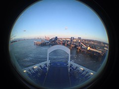 (Abroad) Journey's End (117/365) (CoasterMadMatt) Tags: uk greatbritain england fish eye english ferry port docks project lens photography boat photo spring dock day ship view distorted photos unitedkingdom britain fisheye attachment international photoaday gb april british 365 harwich fisheyelens iphone stenaline 2013 365project harwichinternationalport coastermadmatt uploaded:by=flickrmobile flickriosapp:filter=nofilter pad2013365 harwichtohoekvanholland