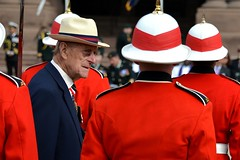 Under a watchful eye (Jamie McCaffrey) Tags: park red toronto ontario canada army nikon uniform colours inspection helmet ceremony royal canadian parade queens hrh philip royalty pith serge rcr canadianarmedforces 28300 tunic princephilip inspect d600 canadianforces 2013 royalcanadianregiment