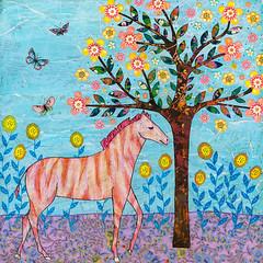 Little Zebra Folk Art Collage Zebra Painting by Sascalia (sascalia) Tags: folkart mixedmedia collagepainting zebra etsy whimsicalart jungleanimal animalillustration animalpainting zebrapainting sascalia zebraillustration