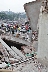 Building collapse in Savar, Bangladesh. (ActionAid) Tags: urban rescue woman building public concrete fire team aftermath workers ruins factory risk destruction volunteers echo ruin cities security safety relief international help human civil elderly rights agency disaster collapse need sweatshop labour service worker safe dhaka volunteer emergency operation defense development department bangladesh assistance services humanitarian devastation ngo garments cooperation response garment reinforced voluntary labourers savar reduction sweatshops accountability actionaid emergencies publicservices livelihood labourlaw destructin humansecurity safetycompliance dipecho safecities