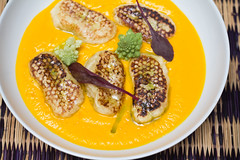 Citrus gnocchi with carrot pure at Colorova (LostNCheeseland) Tags: food paris lunch carrot gnocchi savory colorova