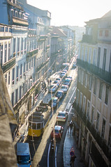 . (aubreyrose) Tags: travel sunset portugal traffic lisbon tram frommybalcony tram28
