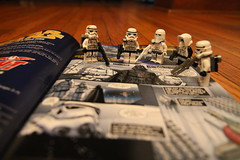 """""""Look at all of those Stormtroopers! Wish we had an army like that."""" (kevinmboots77) Tags: starwars lego stormtroopers freecomicbookday sandtrooper snowtrooper scouttrooper"""