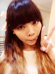 :P (treasurebelle) Tags: selfportrait cute me girl indonesia kawaii ribbon indonesian deedee gyaru selca ombrehair treasurebelle piccolettabelle