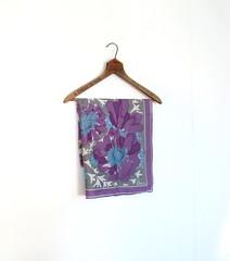 1960s purple pansy print Vera Neumann scarf (Small Earth Vintage) Tags: flowers blue scarf vintage 60s purple pansy accessories 1960s pansies vera floralprint veraneumann smallearthvintage