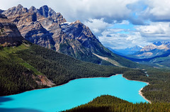 Blue Water Magic (Jeff Clow) Tags: lake nature landscape bravo turquoise albertacanada banffnationalpark peytolake canadianrockies glaciallake