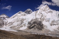 everest and nuptse (rongpuk) Tags: nepal mountains trekking himalaya khumbu everest ebc nuptse 8000 gorakshep greatnature kalapatthar