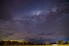 Milky Way above Elmore (Indigo Skies Photography) Tags: lighting camera longexposure trees light sky colour clouds digital rural lens stars aperture nikon exposure farm australia victoria iso tokina galaxy colourful highiso paddock milkyway elmore galacticcentre northernhighway tokina1116mmf28 nikond7000 raychristy