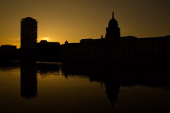 The Custom House (Rui Jarimba) Tags: ireland sunset dublin silhouette yellow catchycolors catchycolours dublino irlanda customhouse