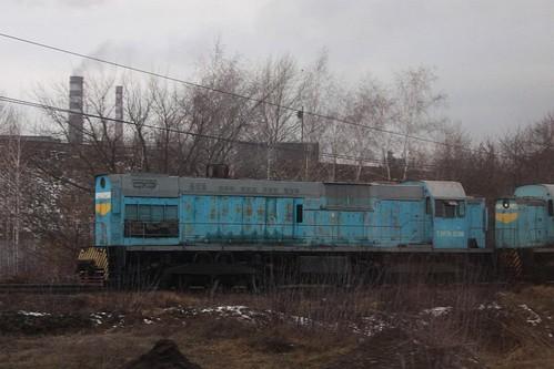 Russian Railways class ТЭМ7А diesel locomotive ТЭМ7А 0295 at Новолипецк (Novolipetsk)