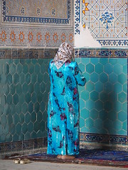 Uzbekistan 2013 (hunbille) Tags: uzbekistan shakhrisabz kok gumbaz mosque kokgumbaz pregamesweepwinner tile tiles