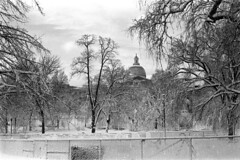 020669 28 (ndpa / s. lundeen, archivist) Tags: park trees winter blackandwhite bw snow storm building 1969 film monochrome boston 35mm fence ma blackwhite massachusetts nick snowstorm dome 1960s february common snowfall blizzard bostoncommon snowcovered statehouse winterstorm dewolf heavysnow massachusettsstatehouse bigsnow coveredinsnow recordsnowfall recordsnow nickdewolf photographbynickdewolf