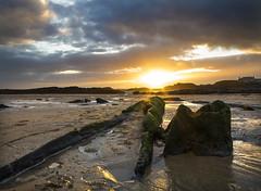 trearddur bay sunset (macmarkmcd) Tags: wood uk autumn sunset sea sky beach wales canon powershot holyisland compact angelsey trearddurbay g1x