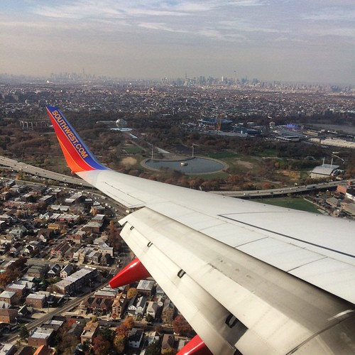 Just love landing in NYC. #HomeSweetHome #SouthwestAir #HappyDay