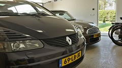 Two car garage with a view (Facts & Figures) (iBSSR who loves comments on his images) Tags: old light two reflection car europe view garage united mini renault age vehicle passenger states average fleets avantime
