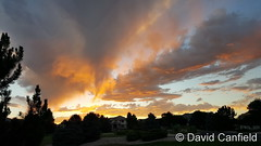 July 13, 2016 - Stunning sunset as seen from Broomfield. (David Canfield)