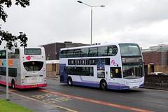 First Glasgow Enviro 400's (busmanscotland) Tags: 33919 33907 sn61bey sn11fov first glasgow sn61 bey sn11 fov ad trident enviro 400 e400 alexander dennis adl