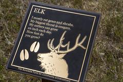 Elk Placard - Suncadia (Don Thoreby) Tags: cascades washingtonstate placards cascademountains cascaderange naturesigns thousandstepstaircase