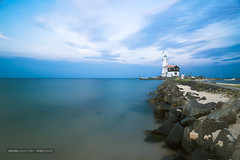 Lighthouse (Steven Dijkshoorn) Tags: paard van marken long exposure colors vuurtoren lighthouse zee sea beach stones blue landscape landscap landschap netherlands dutch holland nederland