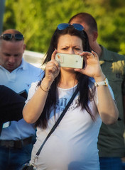 gotcha (try...error) Tags: street streetphotography woman photographer female pretty mobile phone olympus om omd em5