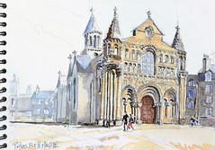 Poitiers, Notre-Dame-La-Grande (Croctoo) Tags: croctoo croctoofr croquis aquarelle watercolor église poitou poitiers poitoucharentes
