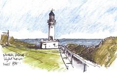 Norah Head Light 220316-001 (panda1.grafix) Tags: norahhead lighthouse seascape pencilinkwash sketch