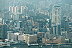 20160830-14-View of Hong Kong tower apartments and buildings from Victoria Peak (Roger T Wong) Tags: 2016 hongkong rogertwong sel70300g sony70300 sonya7ii sonyalpha7ii sonyfe70300mmf2556goss sonyilce7m2 thepeak victoriapeak apartments buildings haze skyline skyscrapers smog travel