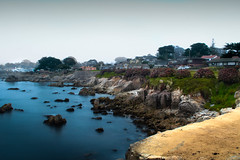 (UDY) Tags: nature ocean beach monterey california canont3i canon canonphotography blue morning fog