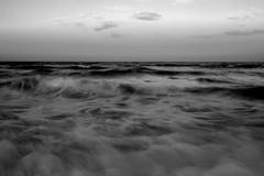 Assateague Surf (dmj.dietrich) Tags: altantic assateague maryland ocean sunset waves bw blackandwhite blackwhite surf sea seaside seashore seascape minimalism