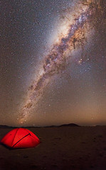 Namibian Campsite (TheAstroShake) Tags: milkyway space stars tent camping nambia night sky