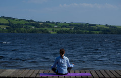 Windy calm (Amy_Waters) Tags: sea killaloe yoga calm hills ireland wind blue skies nature