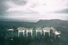 Chairs. (lakeside_cat) Tags: chairs chair mountain mount     landscape mounta12 ricoh ultrawideheliar12mmf56asphericalii gxr ricohgxr