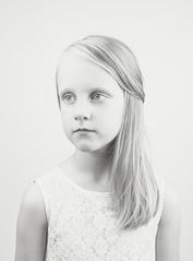 Finnish Girl (Ville Airo) Tags: girl finnish finland high key white portrait people bw canon elinchrom