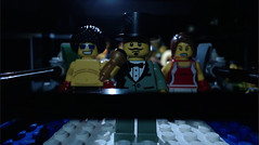 Ladies and gentlemen... (woodrowvillage) Tags: lego moc boxing ring match punch afro female boxer box fight minifigure toy animation stop motion woodrow village films legos build block