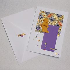monkey-cards-origami-julie-savard (Julie Savard) Tags: origami handmade handmadecards orijuju juliesavard carteenorigami greetingcards collage mixedmedia paperfolding eto zodiac astrology astrologie chineseastrology monkey singe