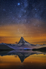 Volcano Fountain (skypointer2000) Tags: astrophotography astronomy astro switzerland schweiz swissnight zermatt matterhorn reflection milkyway milchstrasse mountains nightscape night landscape longexposure lightpollution canon canoneos7dmkll samyang samyang24mmf14 alps fitswork stacking stellisee sky