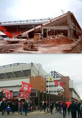 Anfield Road, Anfield, 1997 and 2016 (Keithjones84) Tags: liverpool liverpoolfc anfield anfieldroad merseyside thenandnow kop lfc rephotography football stadium