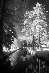 Richelieu park 1 (photoautomotive) Tags: france french europe water waterway trees park tree reflections reflection sky outside outdoor rechelieu cardinalrechelieu frenchforeignsecretary 16thcentury threemusketeers olympus ir infrared