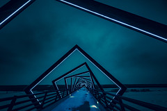 A photo by Tony Webster. unsplash.com/photos/F9o7u-CnDJk (resourcehfh) Tags: licensed sgp30 boonecounty centraliowa desmoinesriver desmoinesrivervalley hightrestle hightrestlebridge hightrestletrail hightrestletrailbridge iowa led leds madrid uprr unitedstates woodward atnight bluehour bluelights bluesky bridge dark darkblue darkbluesky dusk glow glowing lighted lights litup neon night snow sunset winter madridiowa us