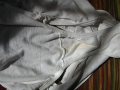 delicious pussy stain on wife's dirty panties (HG's Panties) Tags: pee sweat dirtypanties dirtypantys fetish pantyfetish sniffing panties pantys pussykiss pussystain