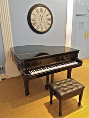 Time Signature (Deepgreen2009) Tags: piano stool vacant clock time music instrument shop armyandnavy london invitation elegance