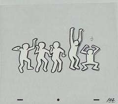 Keith Haring Sesame Street breakdancers animation cel 1987, 02 (Tom Simpson) Tags: keithharing sesamestreet 1987 1980s vintage animation cartoons dance dancer breakdancing breakdancer television