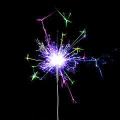tiny fireworks (le cabri) Tags: fireworks birthday party tiny bengal homemade diy fire cracking color purple red blue onblack