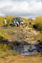 W184fjs  Trouble on the road (PaulBlake1957) Tags: angola methodist transportation travel roads