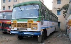 MSRTC  Hirkani bus resting at Kachiguda ,Hyderabad (gouravshinde94) Tags: msrtc bus hirkani asiad solapur hyderabad