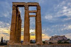 Templo de Zeus (DrAzteca) Tags: acropolis arquitecturaantigua atenas europa grecia nubes nublado ruinasgriegas templodezeus atardecer
