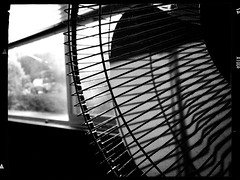 end of the summer (Chris Blakeley) Tags: seattle hipstamatic abstract fan blinds shadow geometric